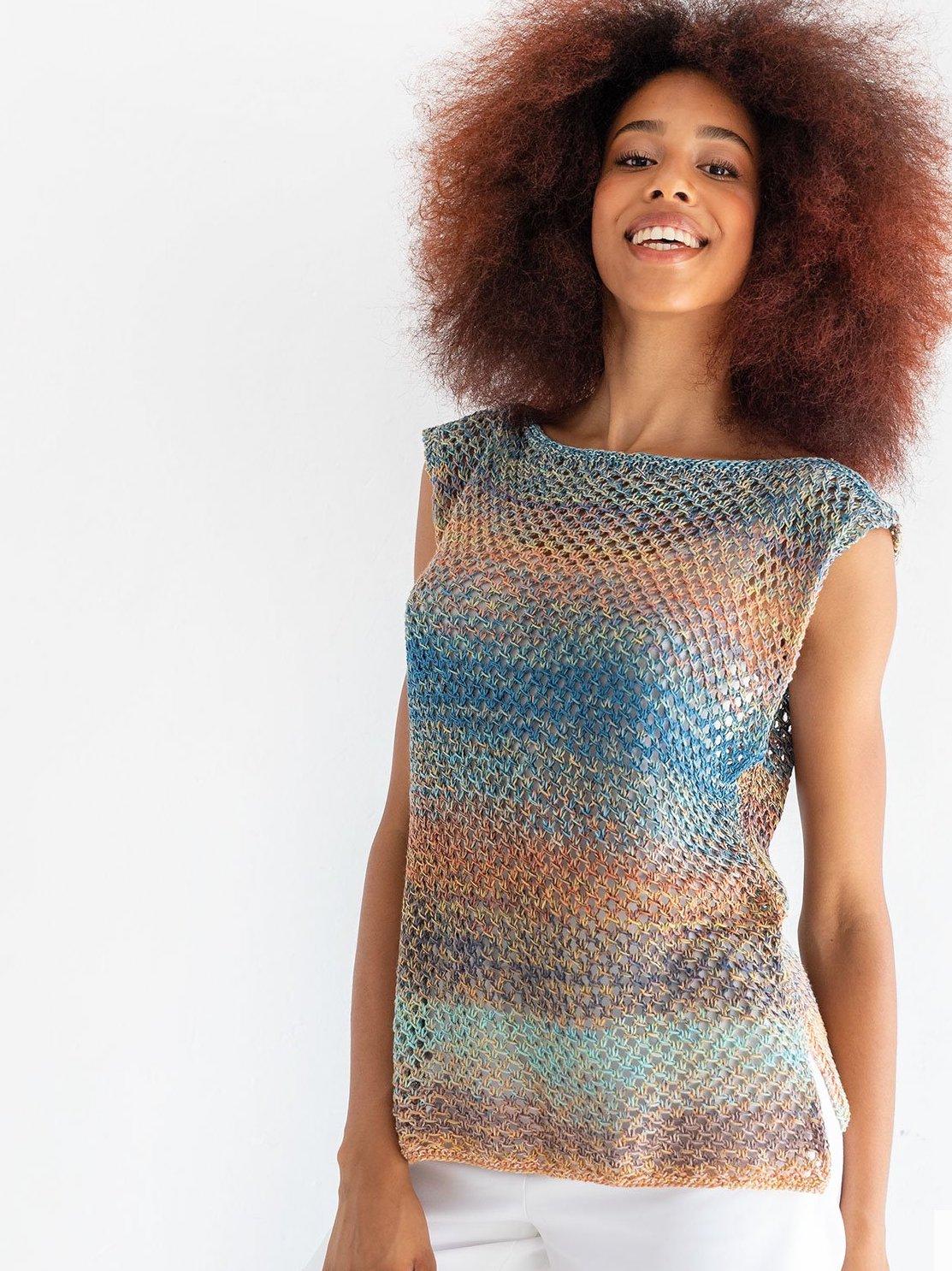 Tutorial de tricotat top de vară