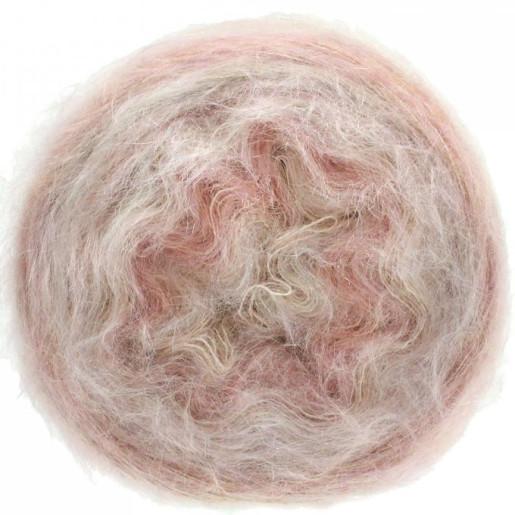 Gomitolo Silkhair, Roz pastel-Crem-Gri