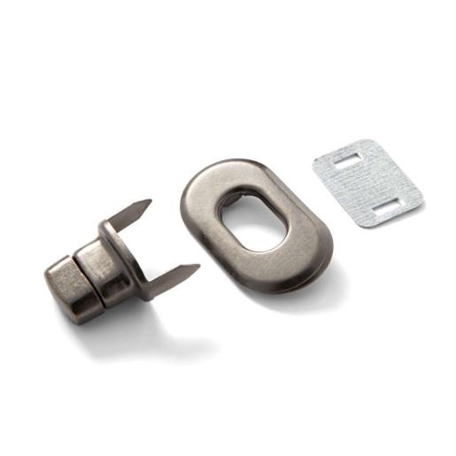 Sistem de inchidere pentru genți - argint antichizat