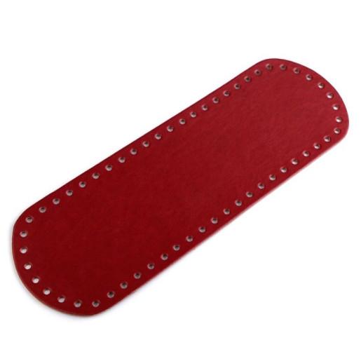 Bază ovală pentru genți, piele ecologică - Roșu cărămiziu