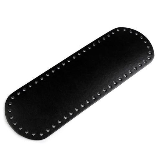 Bază ovală pentru genți, piele ecologică - Negru