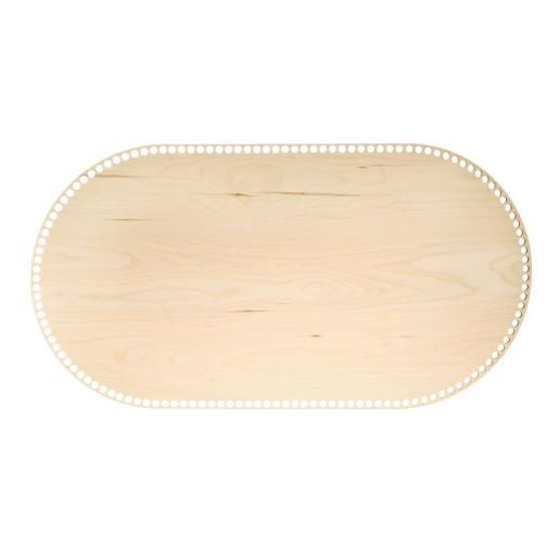 Bază ovală de lemn pentru landou