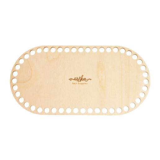 Bază ovală de lemn pentru coșuri - 24 cm x 12 cm