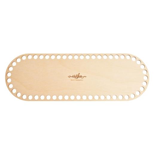 Bază ovală de lemn pentru coșuri-30 cm x 10 cm