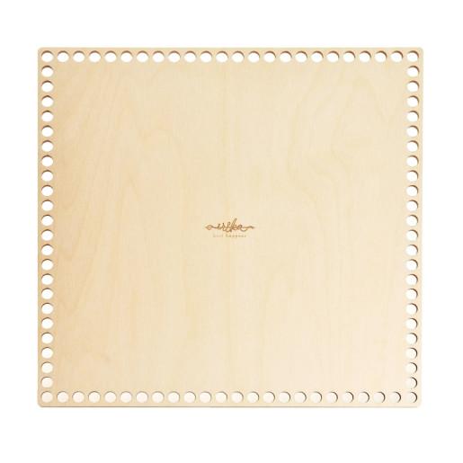 Bază pătrată de lemn pentru coșuri-30 cm x 30 cm