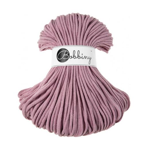 Șnur tubular clasic Bobbiny Premium, 5 mm - Roz prăfuit