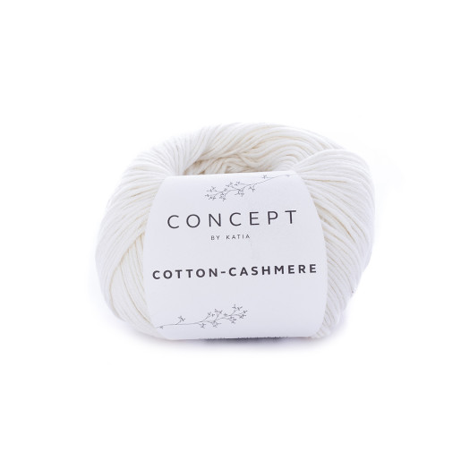 Cotton-Cashmere, Alb unt