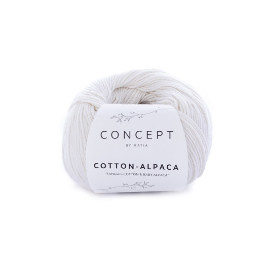 Cotton-Alpaca, Alb