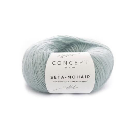 Seta Mohair, Bleu pastel