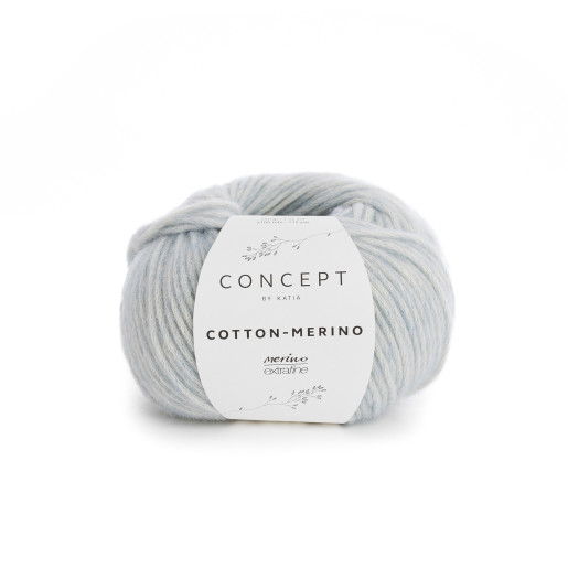 Cotton-Merino, Bleu pastel