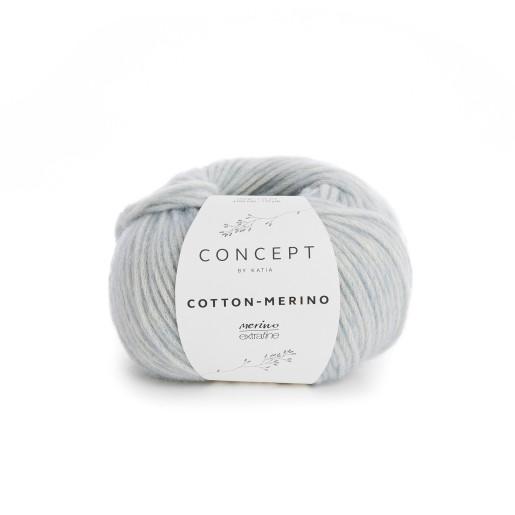 Cotton-Merino, Bleu pastel