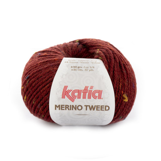 Merino Tweed, Roșu maroniu