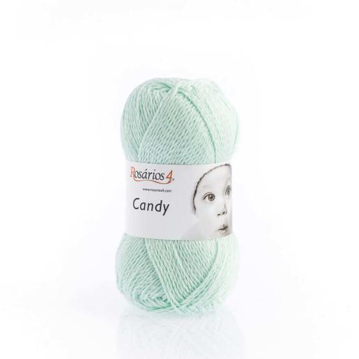 Candy, bumbac cu cașmir - Verde mentă pastel