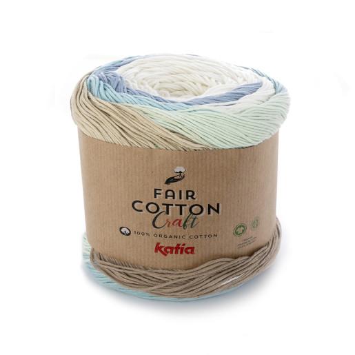 Fair Cotton Craft, Alb Bej Fistic variegat