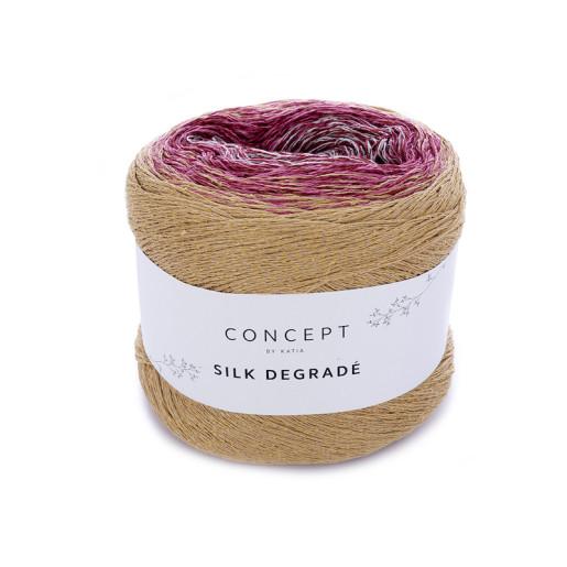 Silk Degrade, Ocru-Corai-Grena-Galben pai