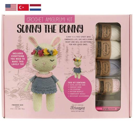 SUNNY THE BUNNY - kit de croșetat jucărie