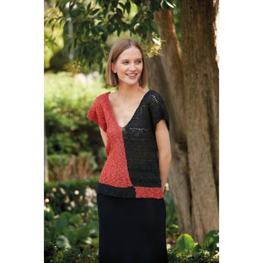 Top bicolor tricotat Polynesia