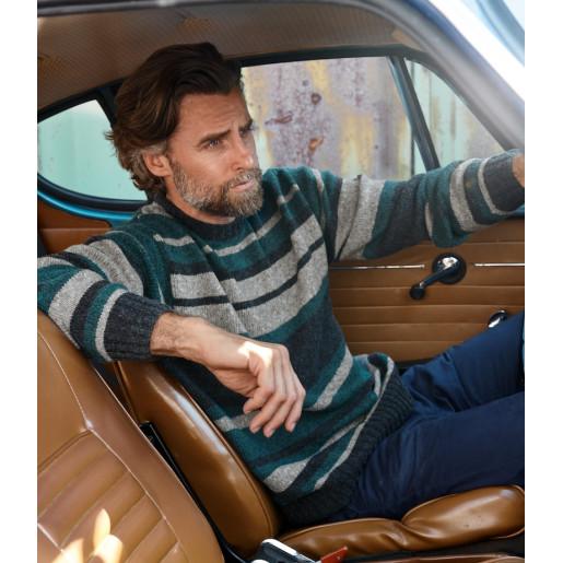 Pulover bărbați tricotat Cashmere 16 fine