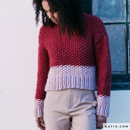Pulover bi-color Love Wool