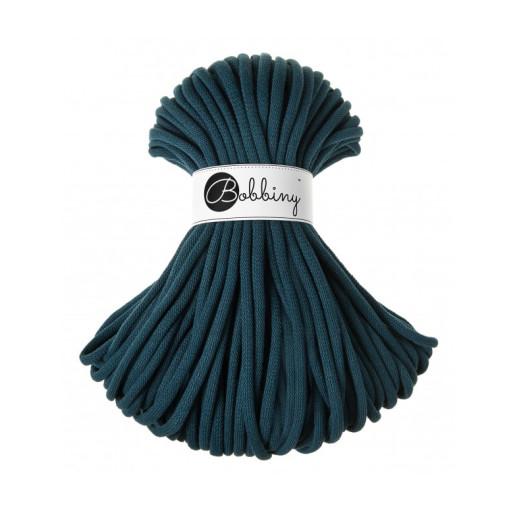 Șnur tubular gros Bobbiny Jumbo, 50 m - Albastru păun