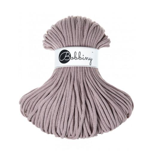 Șnur tubular clasic Bobbiny Premium, 5 mm - Bej perlat