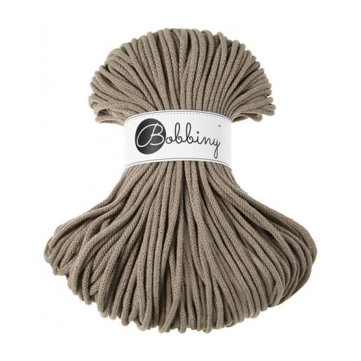 Șnur tubular clasic Bobbiny Premium, 5 mm - Bej inchis