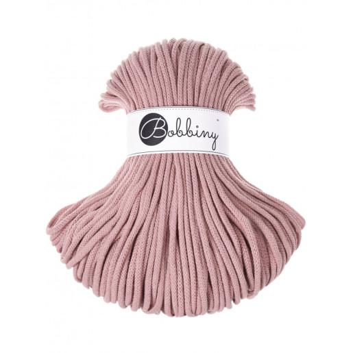 Șnur tubular clasic Bobbiny Premium, 5 mm - Roz pudrat