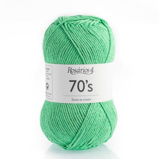 70s - bumbac răsucit, Verde