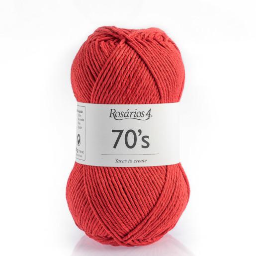 70s - bumbac răsucit, Roșu