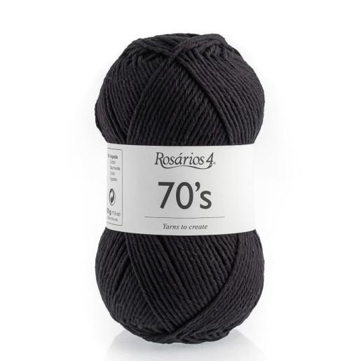 70s - bumbac răsucit, Negru