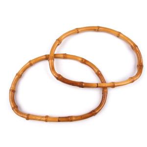 Mânere semiovale de bambus
