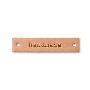 "Etichetă de piele, model ""Handmade"""