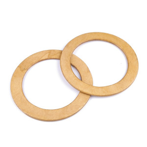 Mânere rotunde de lemn, 14 cm