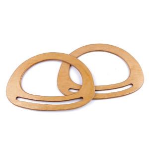 Mânere semi-ovale de lemn lăcuit