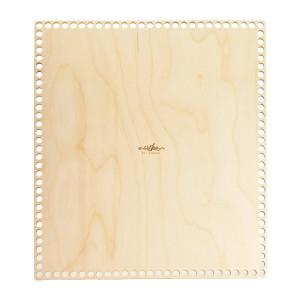 Bază dreptunghiulară de lemn pentru coșuri - 33 cm x 38 cm