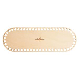 Bază ovală de lemn pentru coșuri - 30 cm x 10 cm