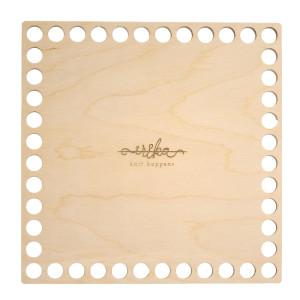 Bază pătrată de lemn pentru coșuri - 11 cm x 11 cm