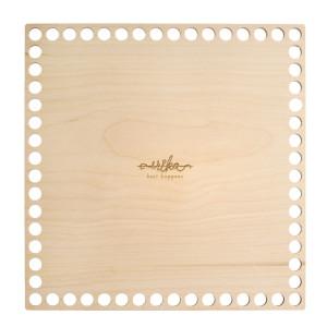 Bază patrată de lemn pentru coșuri - 20 cm x 20 cm