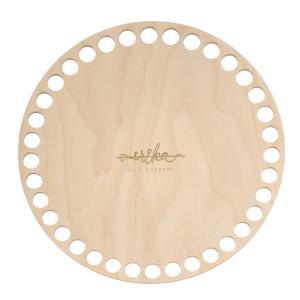 Bază rotundă de lemn pentru coșuri, 15 cm