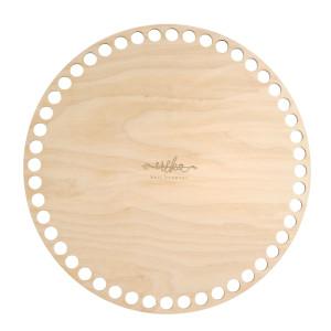 Bază rotundă de lemn pentru coșuri, 20 cm