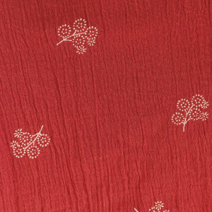 Țesătură Bambula, Flowers Cranberry