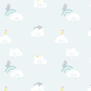 Poplin, model Sky Cloud Rhinos