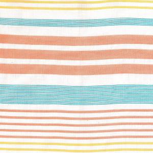 Țesătură Panama, model Orange Stripes