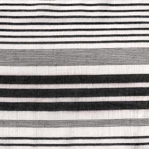 Țesătură Panama, model Black Stripes