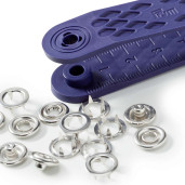 Set de montat capse pentru materiale subțiri/elastice - 10 mm