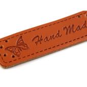 "Set etichete de piele eco, model ""Handmade"""