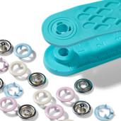 Set de montat capse pentru materiale subțiri/elastice - 8 mm