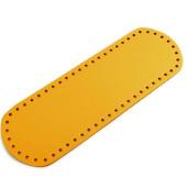 Bază ovală pentru genți, piele ecologică - Galben muștar