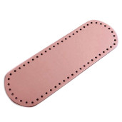 Bază ovală pentru genți, piele ecologică - Roz prăfuit
