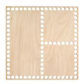 Bază pătrată pentru coșuri, tip organizator - 20 cm x 20 cm